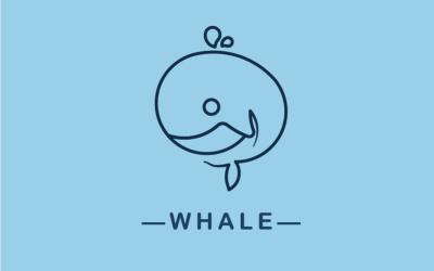 一笔画海鱼logo设计