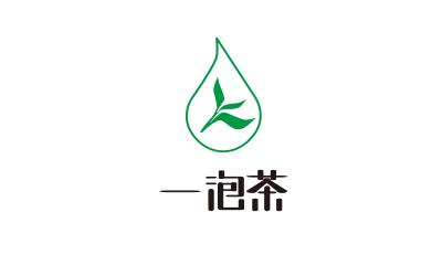 一泡茶logo设计