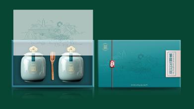 狮峰绿茶包装设计