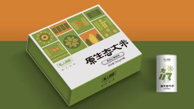 私人良田大米类包装设计