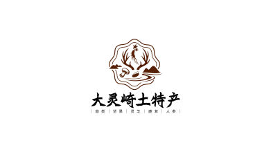 大灵崎东北土特产LOGO设计