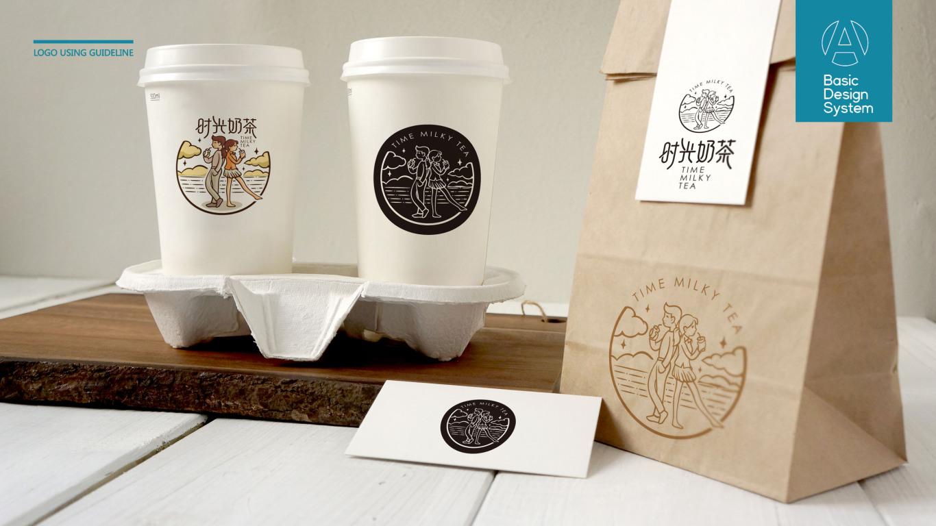 时光奶茶品牌LOGO设计中标图3