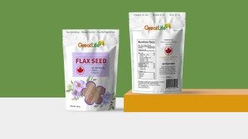慢食尚进口亚麻籽类包装设计