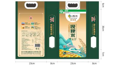水韵苏米大米包装设计