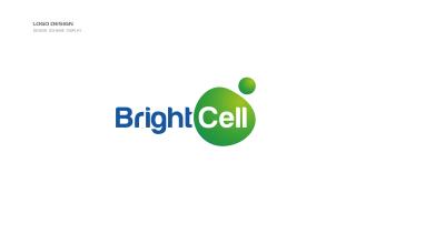 Bright Cell生物科技類LOGO設計