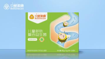贝爱家康儿童益生菌类包装设计
