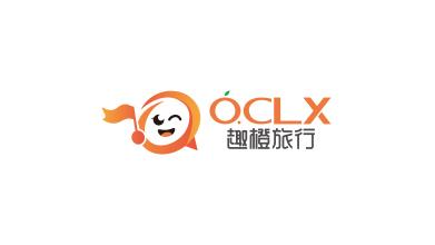 趣橙旅行线上旅游平台LOGO设计