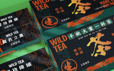 國茶心印國潮茶葉包裝盒