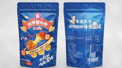 包头东宝人造蛋白牛肉条类食品包装设计