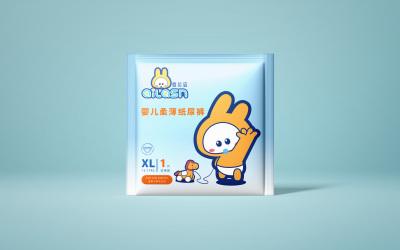 ailasn纸尿裤品牌包装设计