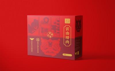 腊味礼盒主视觉设计