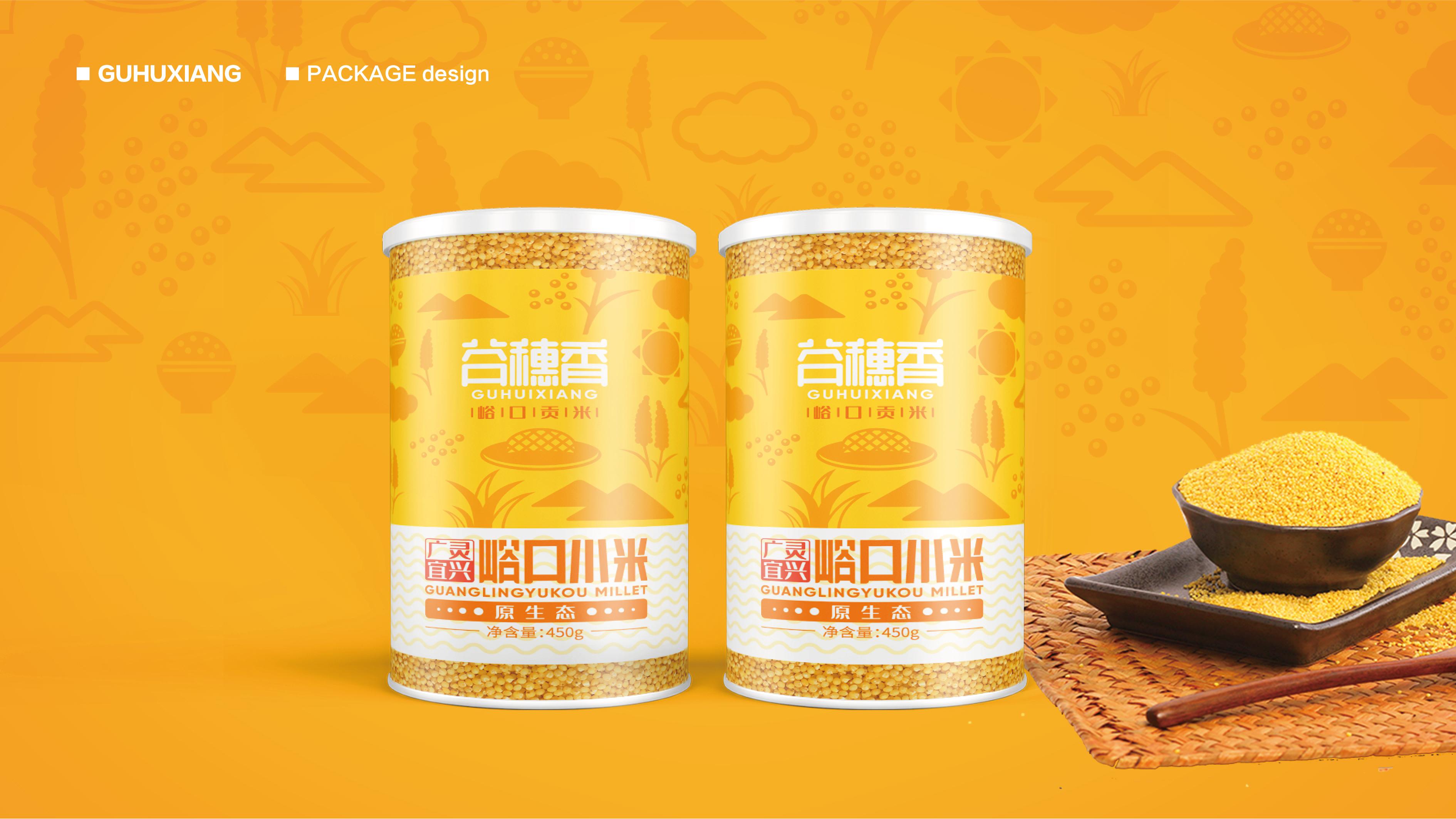 县润德食品小米包装设计