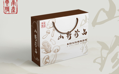 菌菇生鮮禮盒內外包裝
