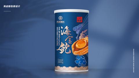 金海獅高端海鮮類罐頭包裝設計