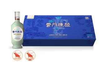 云门陈酿酱香型杯酒礼盒包装设计