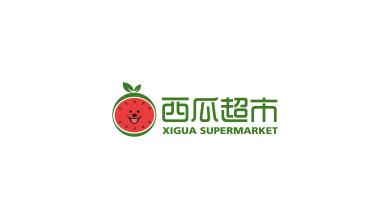 西瓜超市生鲜超市LOGO设计