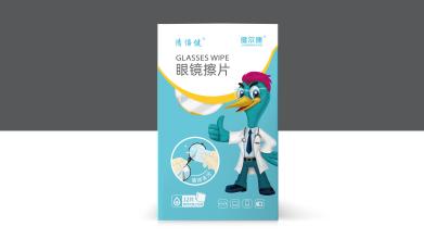 健尔康眼镜擦片包装设计