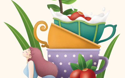 瘦身代餐插画包装设计