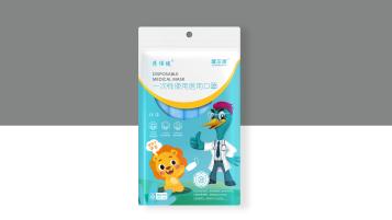 健尔康儿童医用口罩包装设计