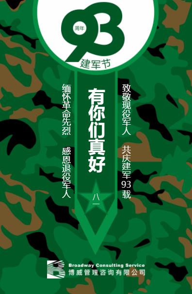 建军节海报