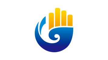 廣西廣信土地房地產評估有限公司商貿類logo設計