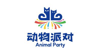 動物派對休閑娛樂類兒童玩具LOGO設計