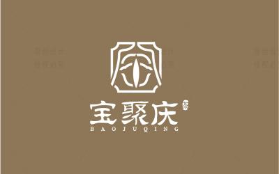 宝聚庆茶馆logo设计