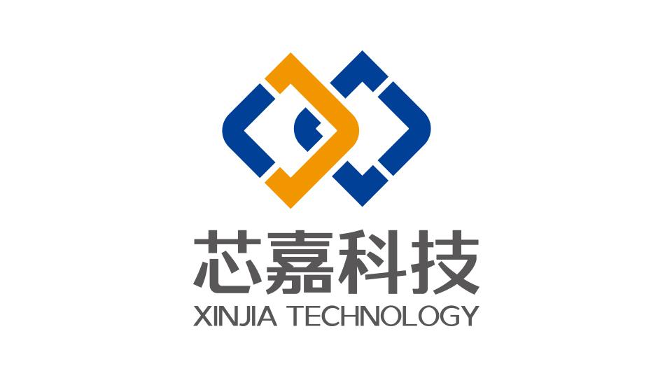 沈阳芯嘉科技有限公司现代科技类logo设计