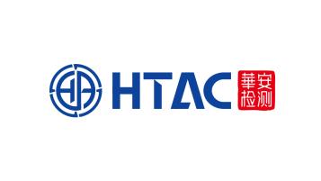 華安檢測檢測類logo設計