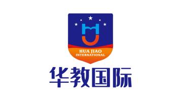 华教国际教育服务类LOGO设计