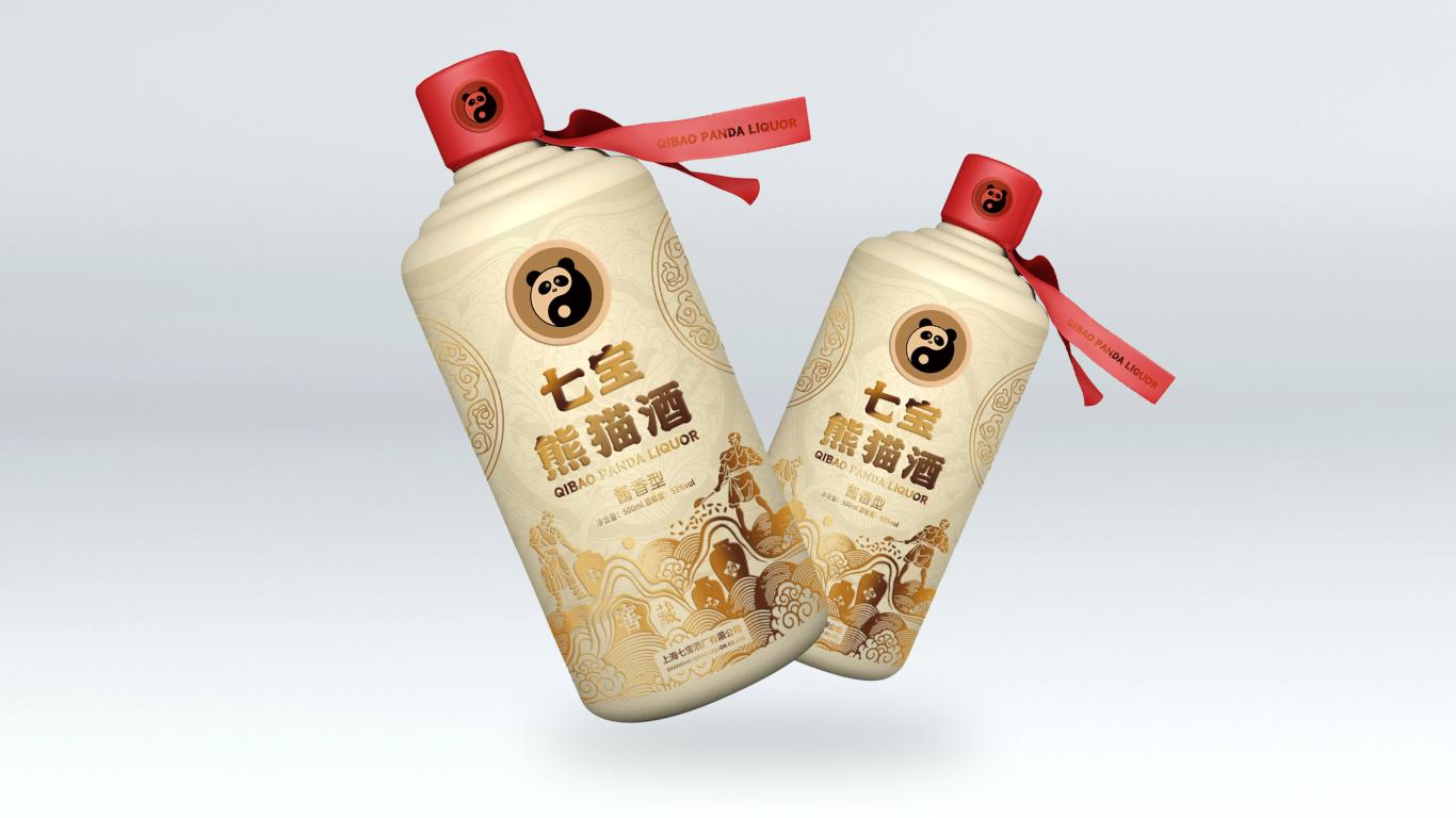七宝熊猫酒白酒包装设计中标图2
