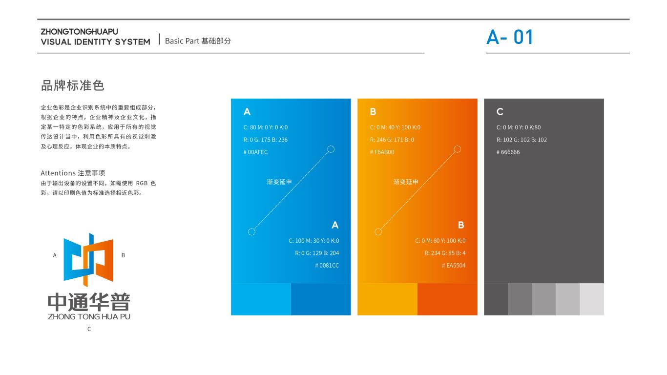 中通华普企业服务类VI设计中标图2