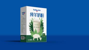央牧新纯羊奶粉包装设计