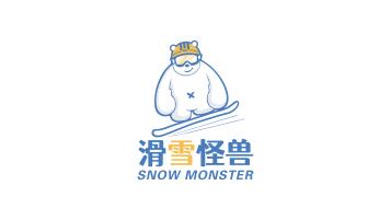 滑雪怪兽滑雪平台LOGO设计
