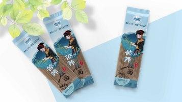 雪霞苦荞挂面类包装设计