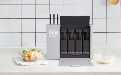 共享厨房餐厨具收纳消毒盒创新设...