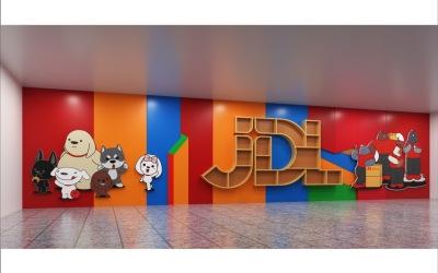 京东物流西南大楼文化打造