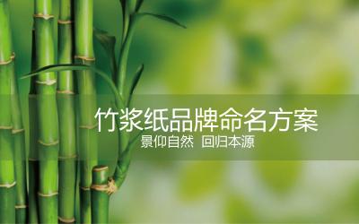 竹浆纸品牌命名