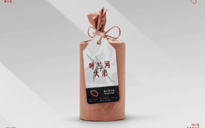 呼兰河大米包装设计