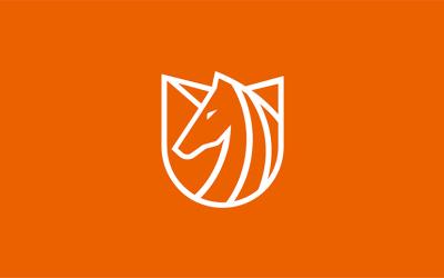 独⻆兽创业孵化器品牌logo设...