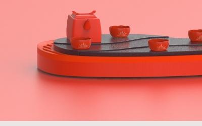 城池壶,莲花杯
