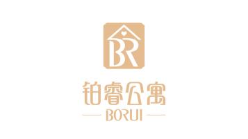 铂睿公寓酒店品牌LOGO设计