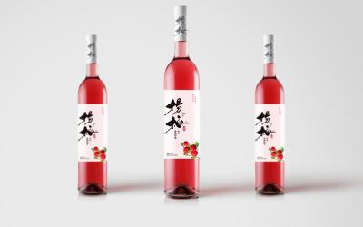 杨梅酒品牌包装标签设计