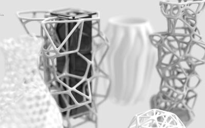 分型概念花瓶
