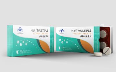 阿莱多种维生素片包装设计