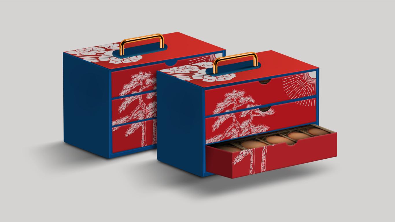 鸡蛋礼盒包装设计方案图1