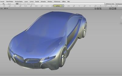 BMW-i8外饰正向建模