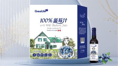 GreatLife蓝莓汁包装箱包装设计