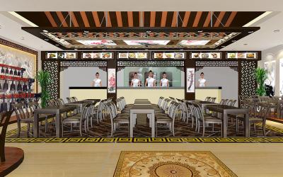 原创的中式餐厅设计--编钟乐