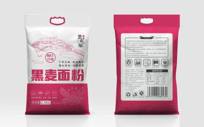 【包装设计】优质小麦粉+尚品雪花粉+麦...